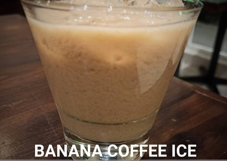 Banana coffee ice