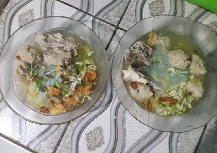 Langkah Mudah untuk Menyiapkan Bakso Daging A-Sap (Ayam Sapi Mix), Enak