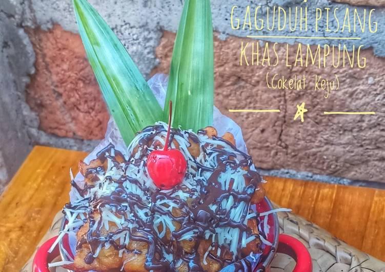 Geguduh Pisang Khas Lampung (Cokelat Keju)