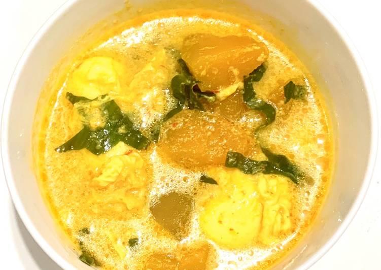 Masak lemak telur itik sayur labu