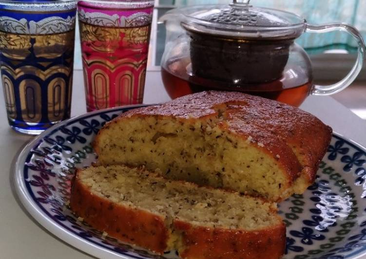 How to Make Speedy Mediterranean♪Lemon yogurt cake with Mint flavor