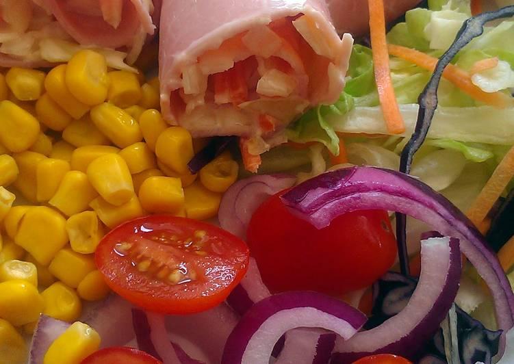Easiest Way to Prepare Delicious Vickys Homemade Coleslaw / Ham Roll-Ups, GF DF EF SF NF