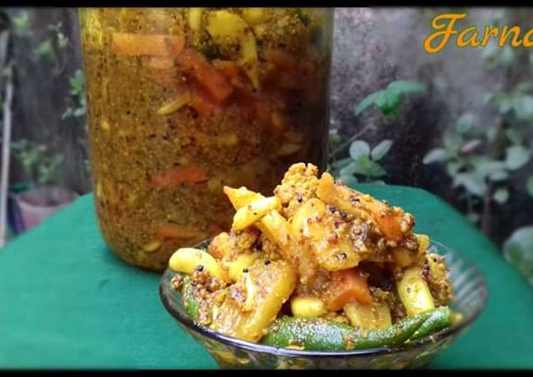 Step-by-Step Guide to Make Homemade Mix vegetable pickle