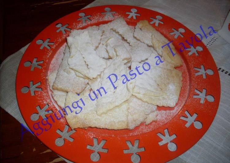 Frappe al forno senza burro: ricetta facile