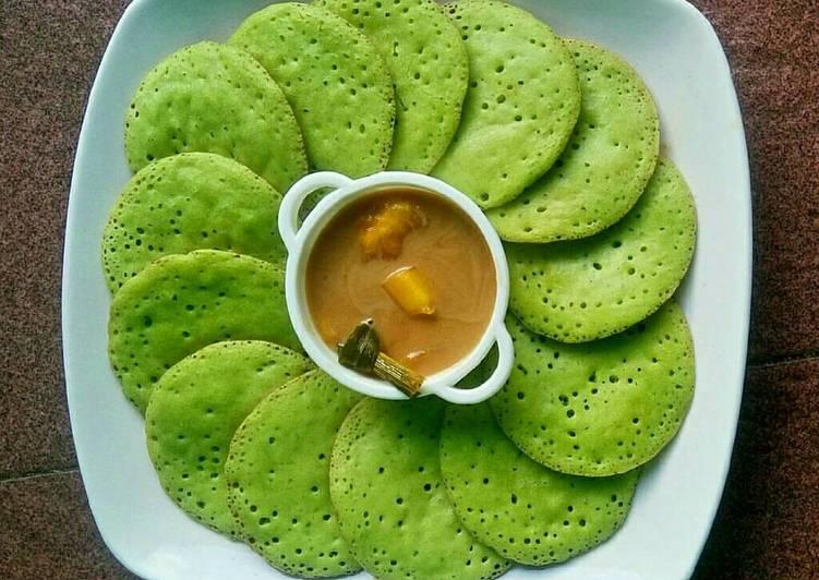 Resep Serabi Pandan Kuah Nangka oleh lisna - Cookpad