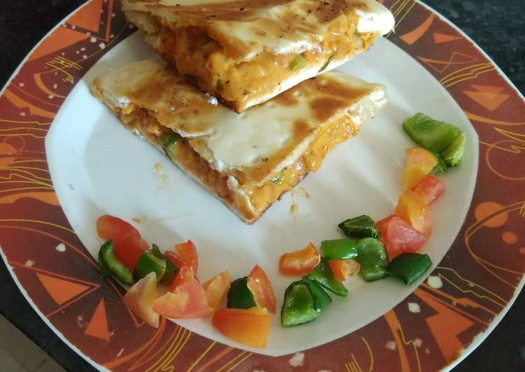 Recipe: Perfect Stuffed Pizza Base Sandwich