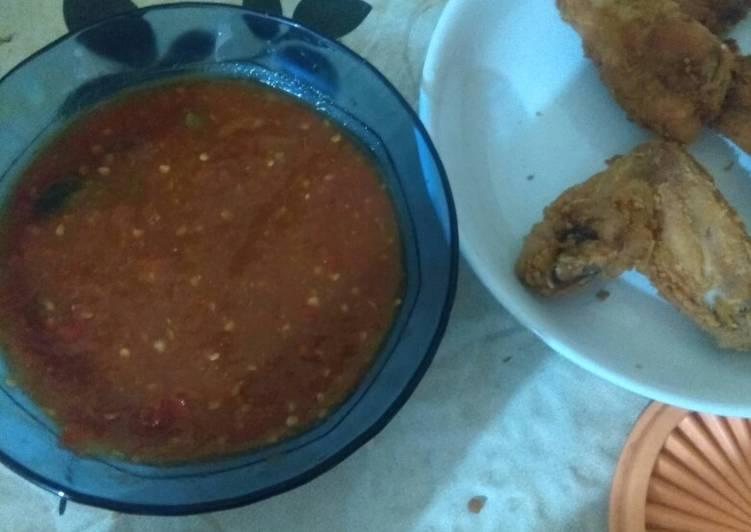Resep Sambal Ayam geprek, Lezat
