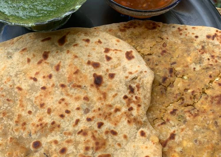 Sprouts panner Paratha