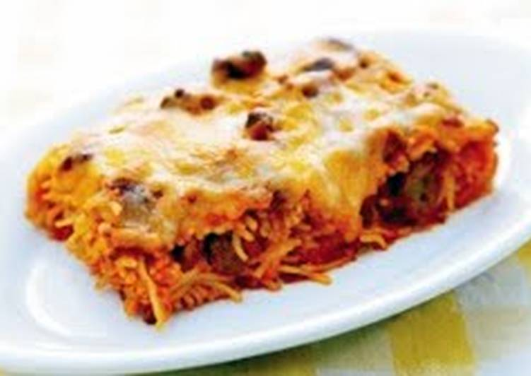 Baked Four-cheese Spagettii
