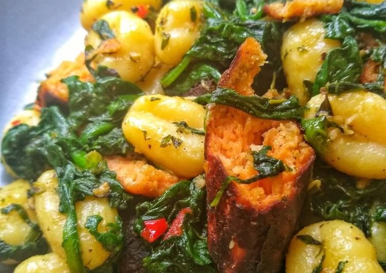 Sausage and Spinach Gnocci (Vegetarian)