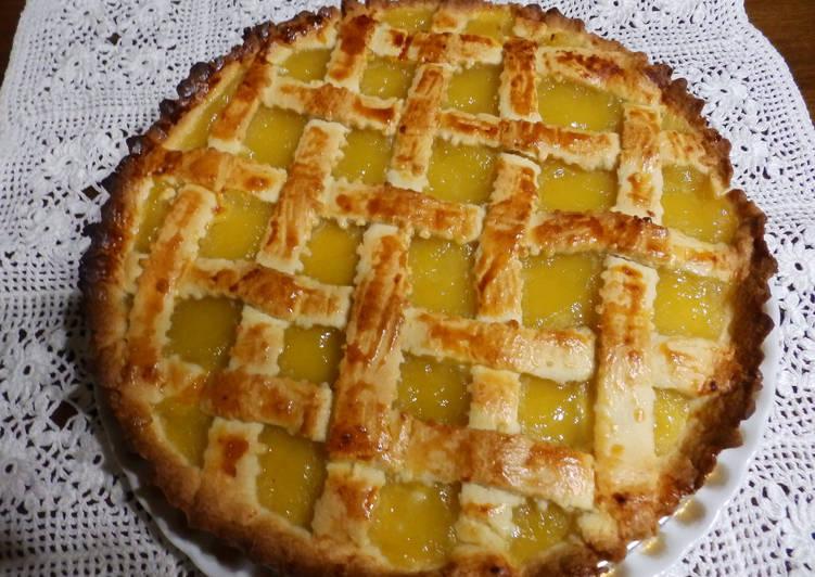 Crostata de compota de manzana