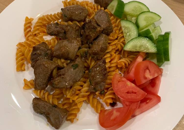 Steps to Make Super Quick Homemade Vietnamese style Beef and Tomato 'Pasta'