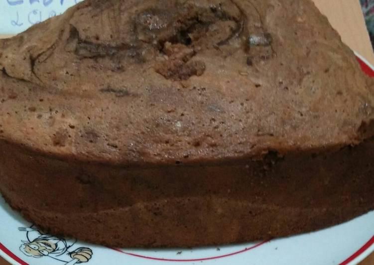 Bolu marmer coklat rempah - cookandrecipe.com