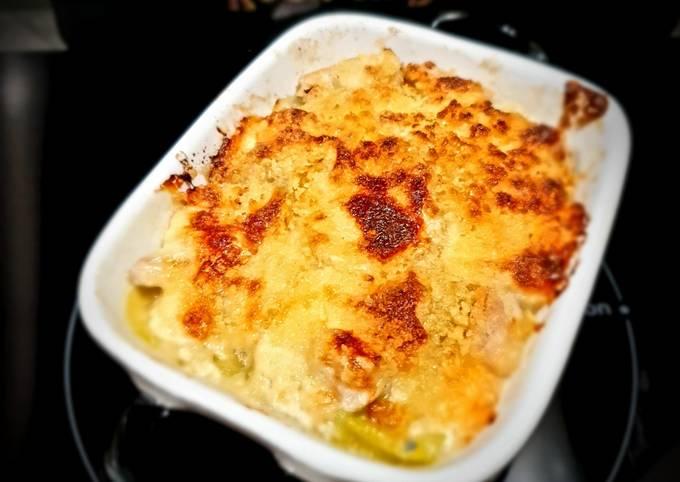 Gratin courgettes, poulet et gorgonzola