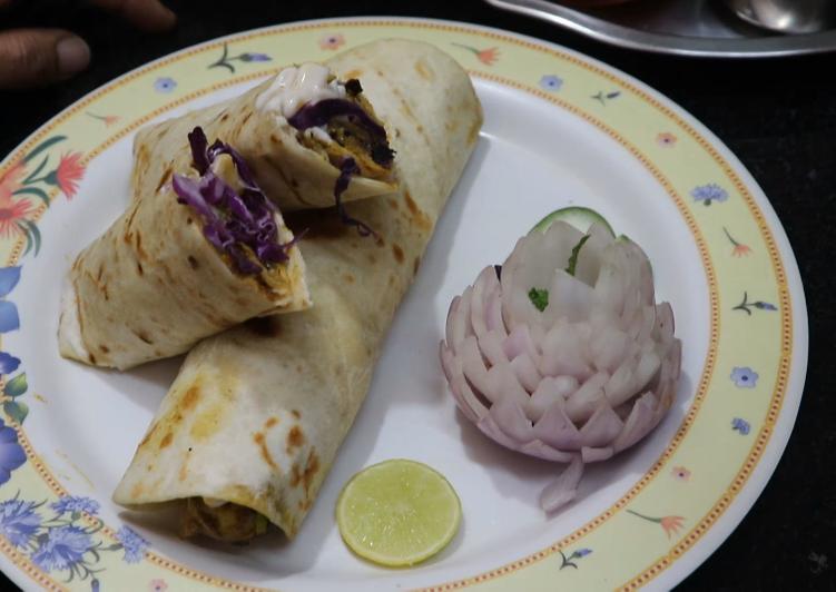 Moringa Aloo wrap