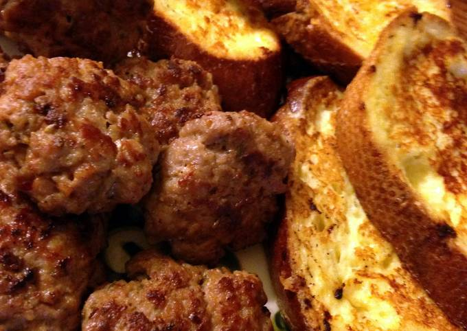 Sausages and Savory French Toast