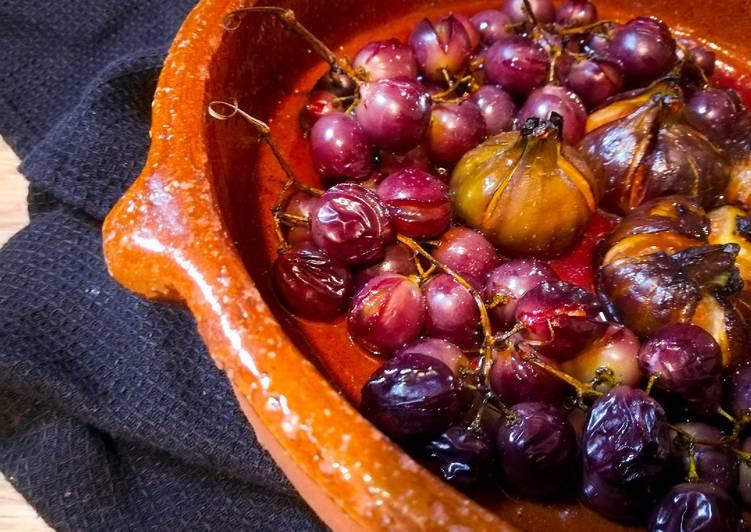Figues et raisins rôtis