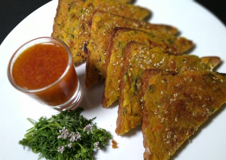 Recipe of Homemade Moong dal toast