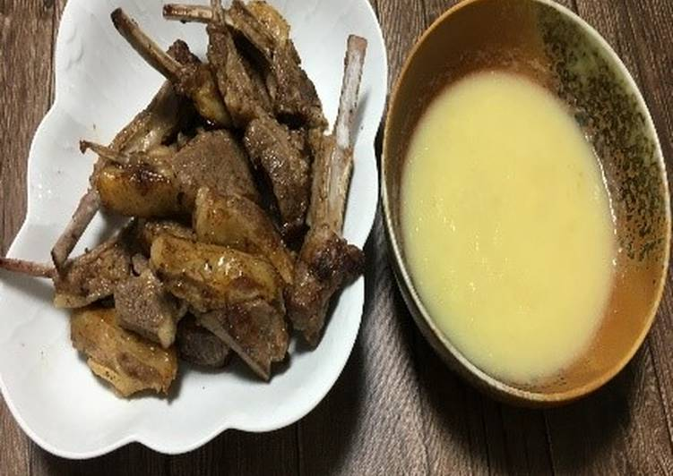 Recipe: Delicious Toyohira Lamb-Chop with Toyohira Apple Sauce