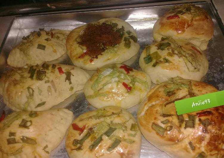 60》Roti isi Abon empuk no mixer versi oven tangkring