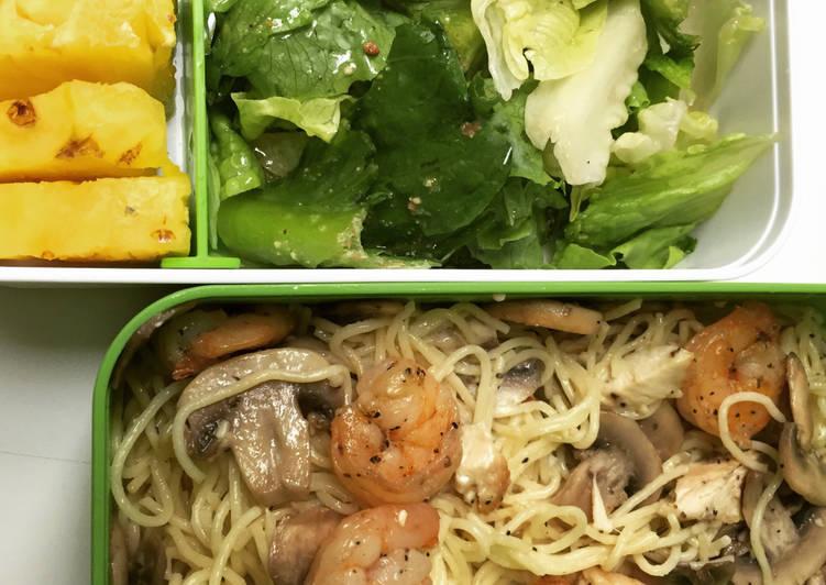 Bento Series # 2 — Trois Fromage et Champignon Pasta