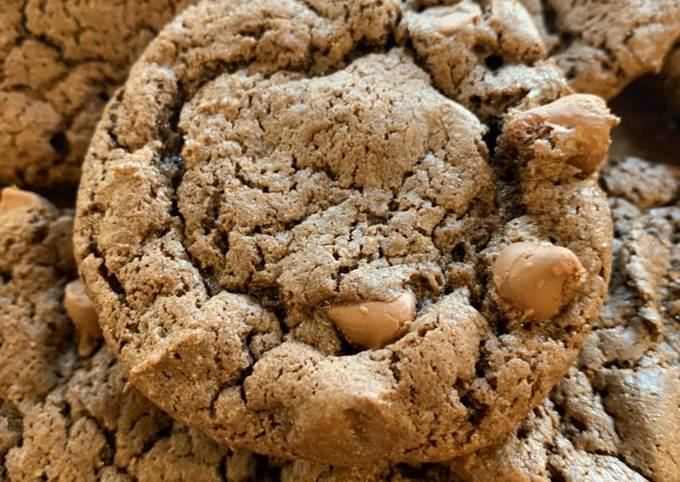 Chewy Double Chocolate Cookies