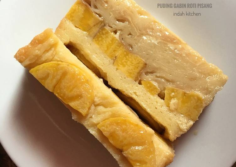 Puding gabin roti pisang ekonomis