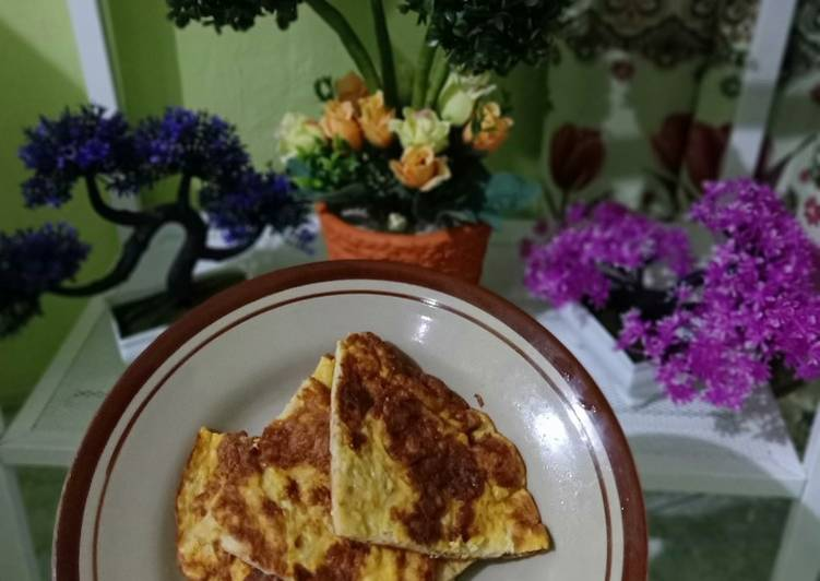 Resep Omelette cheese vegetables 😁 yang Sempurna
