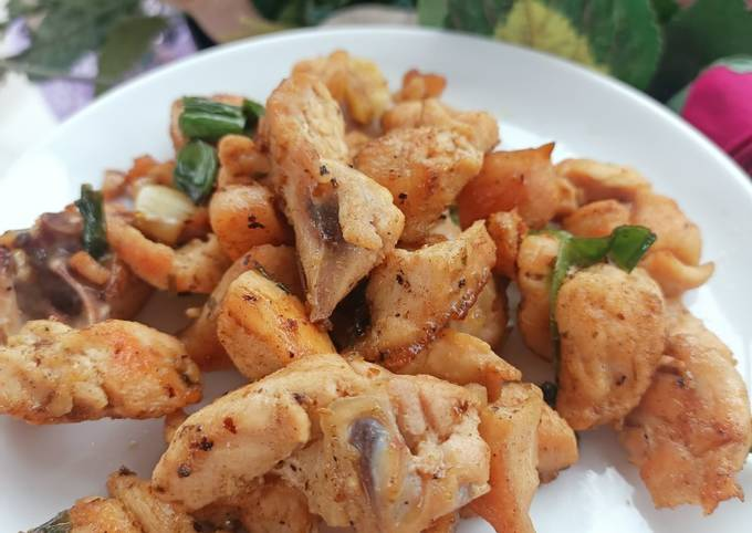 Tumis ayam cabe hijau (menu diet)
