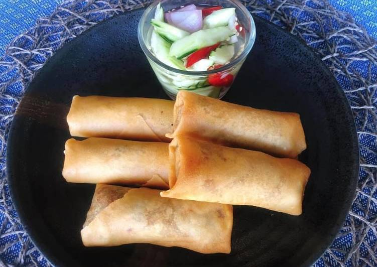 Recipe: Delicious 🧑🏽‍🍳🧑🏼‍🍳 Crispy Vegetable Spring rolls Recipe • With Mushroom filling • Vegetarian Recipe