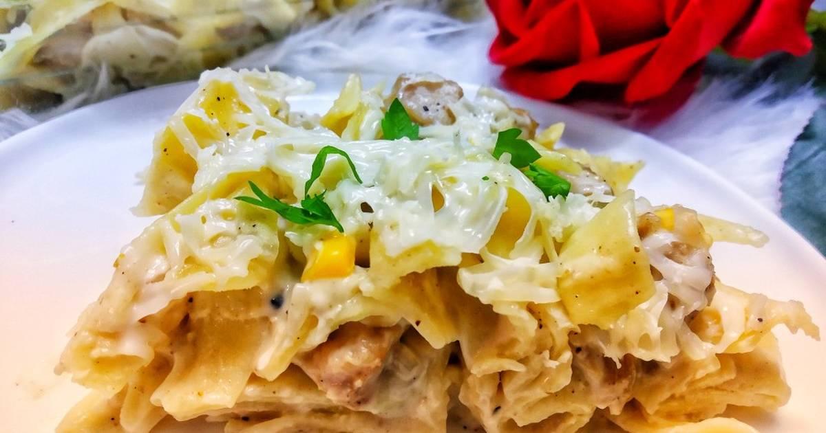 طريقة عمل فوتشيني الدجاج و الذرة 78 وصفة فوتشيني الدجاج و الذرة سهلة وسريعة كوكباد