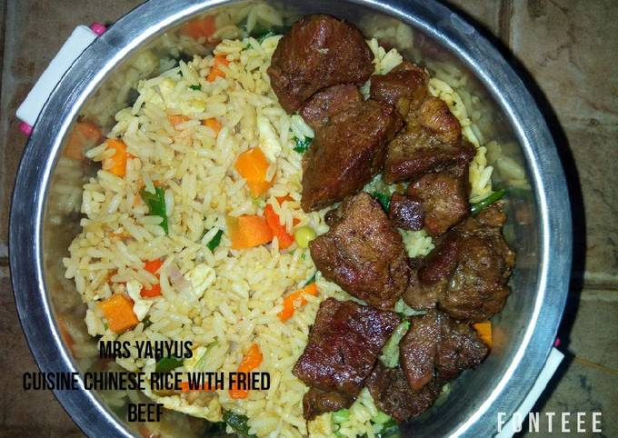 Chinese Rice with Fried Beef
