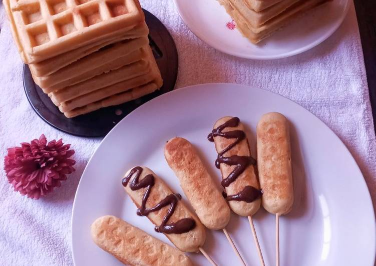 Recipe of Homemade Hotdog waffles