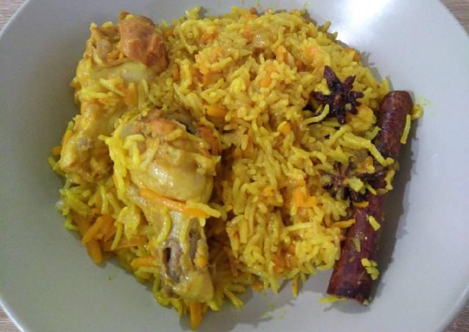 健康黄姜鸡饭 Healthy Biryani Chicken Rice