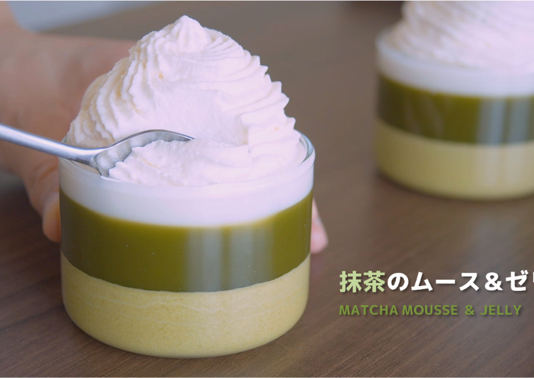 No-Bake Matcha Mousse and Jelly ★Recipe Video★