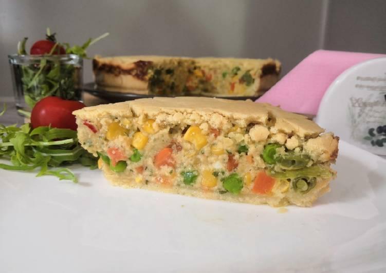 Glutén és tejmentes zöldséges pite recept foto