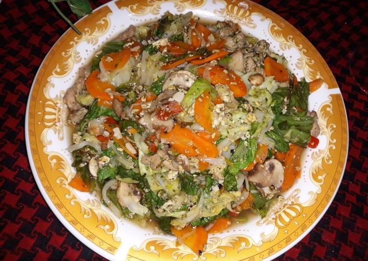 Bagaimana mengolah Chinese Stir fry vegetable delight ala resto, Lezat