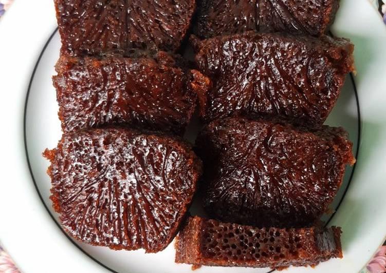 Bolu Caramel / Sarang Semut - cookandrecipe.com