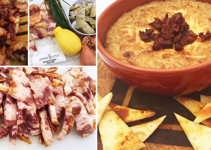 Wagyu Beef Bacon, Artichoke, And Shallot Dip