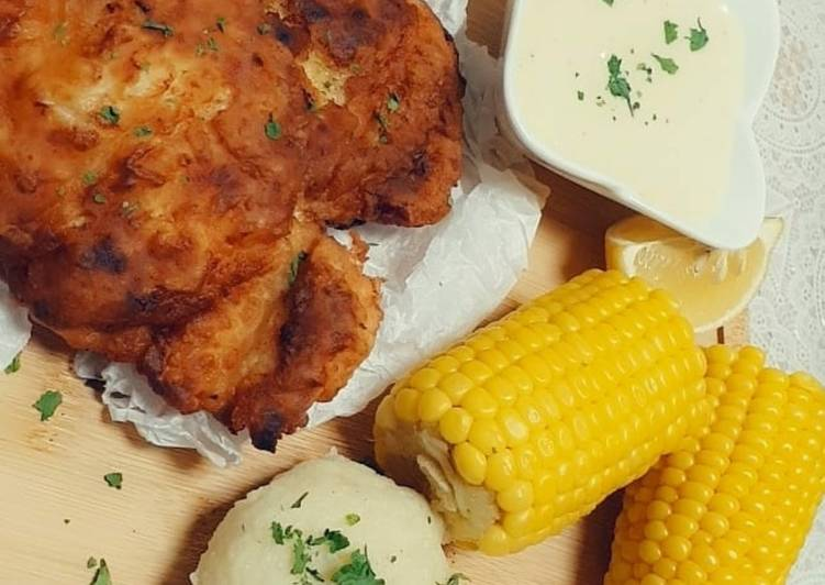 دجاج مقلي على الطريقة الريفية