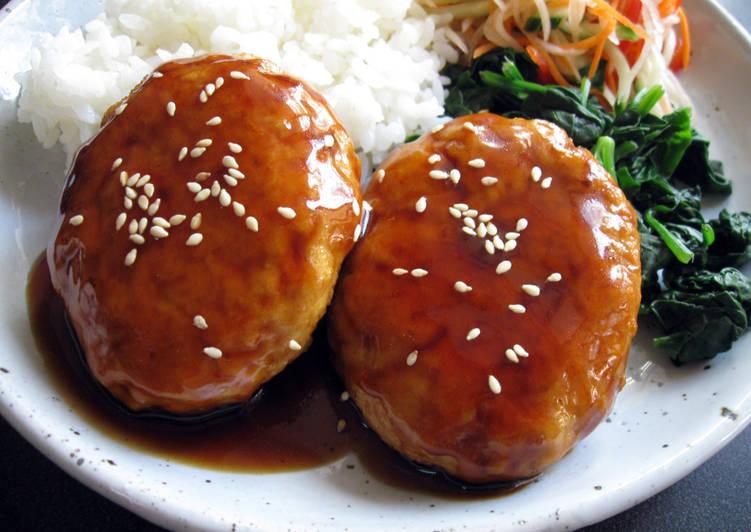 Steps to Prepare Homemade Chicken & Tofu Burgers with Teriyaki Sauce