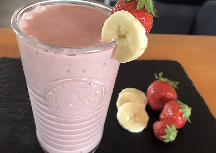 Recipe: Appetizing Smoothie 🍓 +🍌
