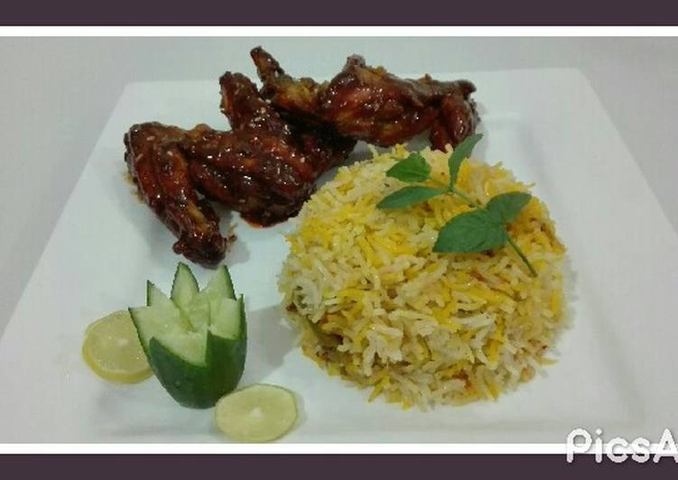 How to Make Super Quick Homemade BBQ Chicken Wings with Masala Rice