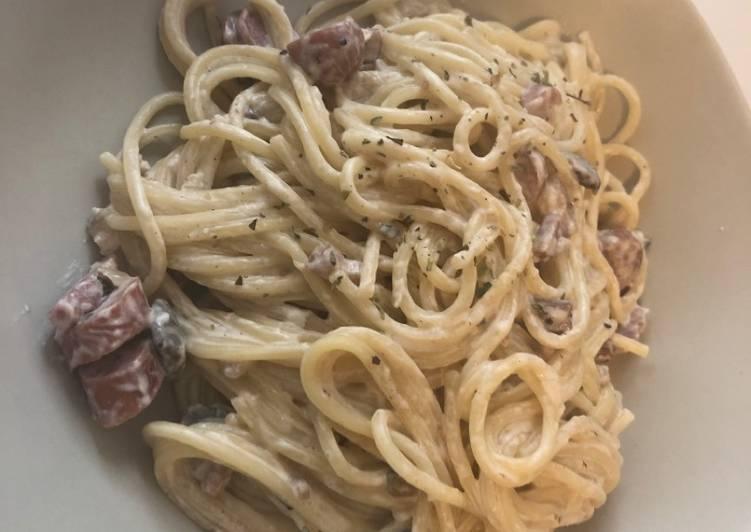 Spaguetis carbonara