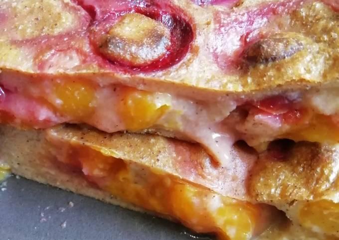Flan healthy gluten free et SSA aux mirabelles et prunes