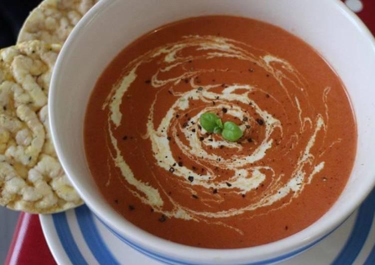 Homemade tabasco tomato soup
