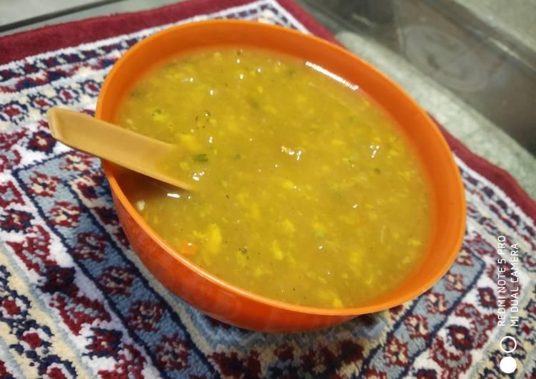 Sour moong dal soup