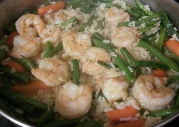 Step-by-Step Guide to Prepare Perfect Shrimp and green beans risotto
