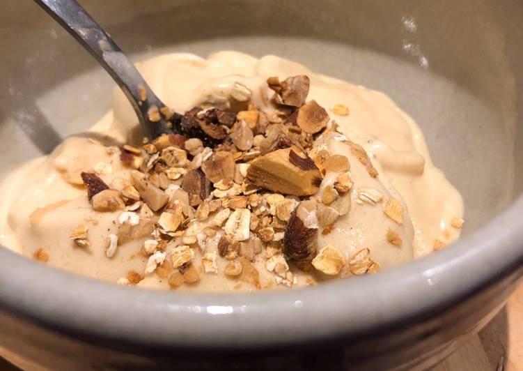 Banana ice cream with pea protein