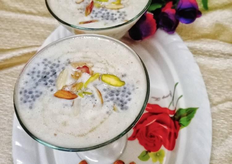 Banana and Almond milk shake